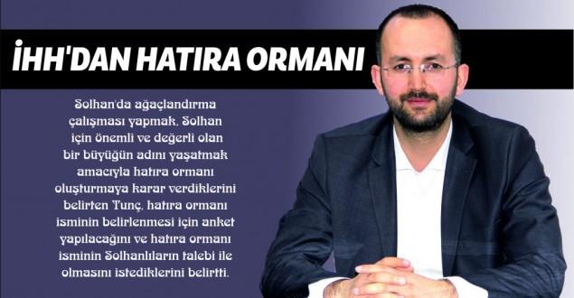 İHH'DAN HATIRA ORMANI