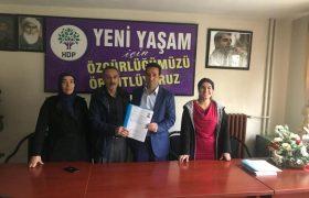 KITAY, HDP'DEN ADAY ADAYLIK BAŞVURUSU YAPTI