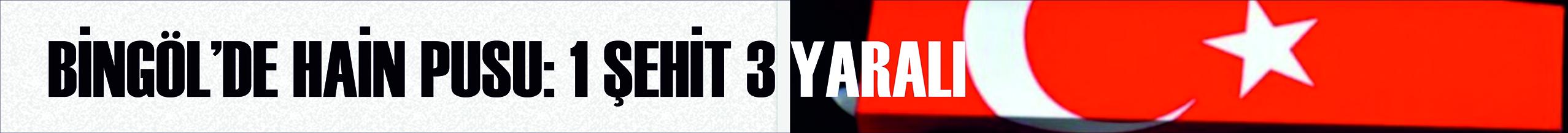 BİNGÖL'DE HAİN PUSU: 1 ŞEHİT 3 YARALI
